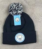Футбольная шапка Манчестер Сити (темно синяя)