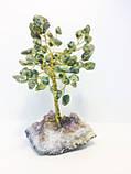 Дерева з каміння | сувенірна дерево з змійовика М | декор для дому, фото 3