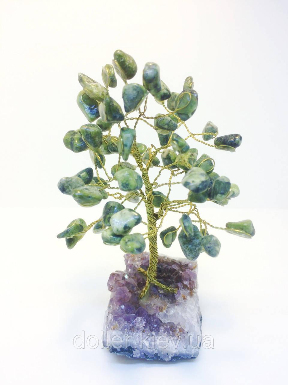 Дерева з каміння | сувенірна дерево з змійовика М | декор для дому