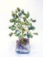 Деревья из камней | сувенирное дерево из змеевика М | декор для дома