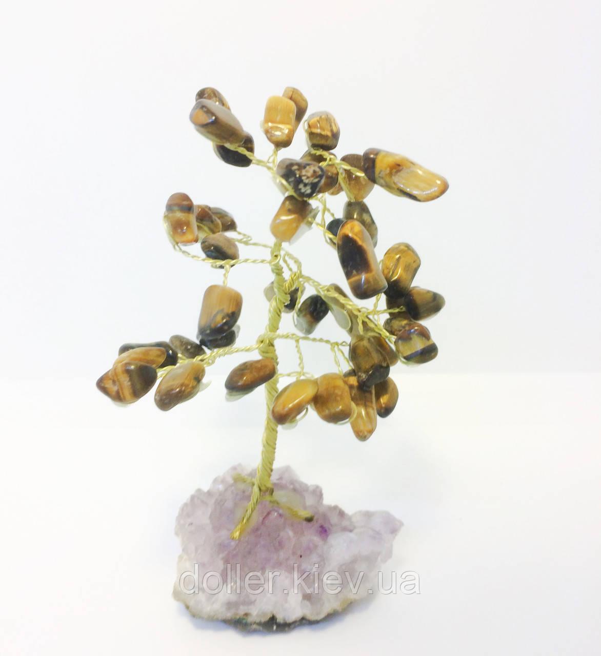 Дерева з каменю   декоративне дерево з тигрового ока М   кварцові дерева