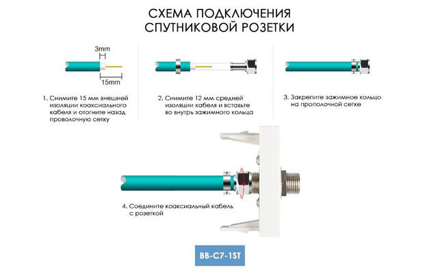 Схема подключения спутниковой розетки LIVOLO