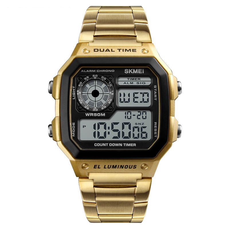 Skmei  1335 S ripple золотые мужские часы