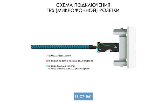 Схема подключения TRS микрофонной розетки LIVOLO