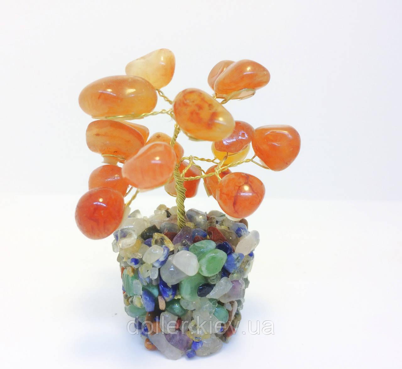 Дерева з каміння | сувенірна деревце з сердоліку S | сердоликовые дерева