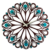 Настінні Годинники Glozis Peacock Feather B-015 50х50
