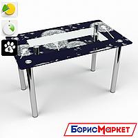 Обеденный стол стеклянный (фотопечать) Прямоугольный с полкой Vento от БЦ-Стол