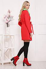 Женское демисезонное пальто красного цвета, размер:42,48, фото 3