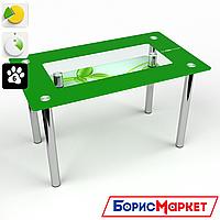 Обеденный стол стеклянный (фотопечать) Прямоугольный с полкой Verde от БЦ-Стол