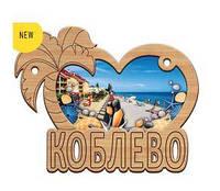 Деревянный магнит, магнит на холодильник Коблево, фото 1