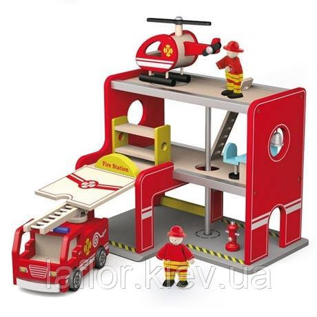 Ігровий набір Пожежна станція Viga Toys