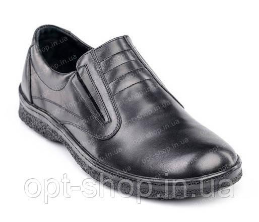Мужские кожаные туфли на резинке от производителя