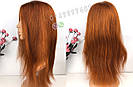 Парик рыжий длинный🔥 ровный из натуральных волос, фото 3