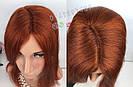 Парик рыжий длинный🔥 ровный из натуральных волос, фото 6