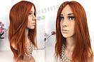 Парик рыжий длинный🔥 ровный из натуральных волос, фото 2