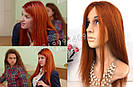 """🔥 Парик натуральный """"рыжая бестия"""", волос ровный.🔥, фото 9"""