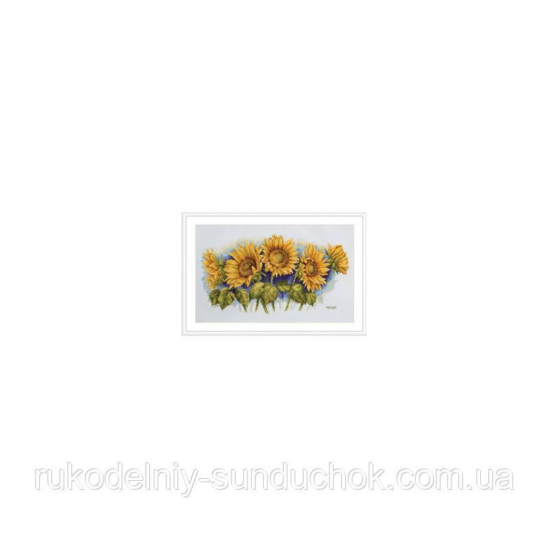 Набор для вышивания крестом Мережка К-125 Сияющие подсолнухи