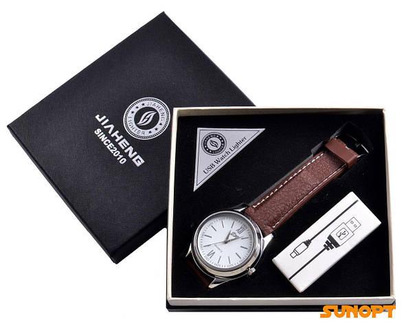 USB зажигалка + часы в подарочной упаковке (Спираль накаливания; кварц) №4829-2, фото 2