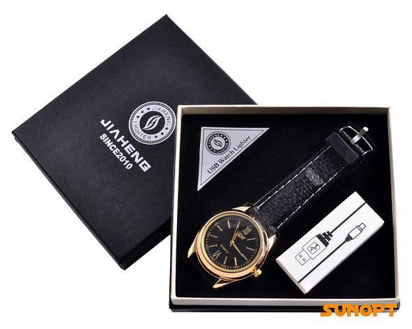 USB зажигалка + часы в подарочной упаковке (Спираль накаливания; кварц) №4829-4, фото 2