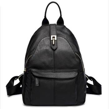 Рюкзак міський жіночий шкіряний Zency (чорний)
