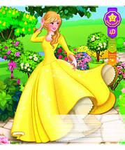 """Тетрадь 18 листов в  клетку """"Бриск Gold""""-""""Принцессы"""" 4D (упаковка.25 штук-5 видов), фото 2"""