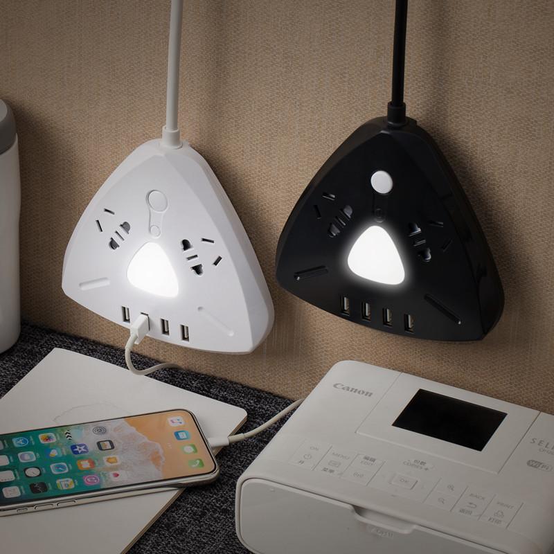 Универсальное устройсто блок питания удлинитель,ночник,зарядка USB,ночник 1,8 м/триугольник.