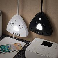 Универсальное устройсто блок питания удлинитель,ночник,зарядка USB,ночник 1,8 м/триугольник., фото 1