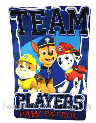 Флисовый плед Щенящий патруль, Paw Patrol, Nickelodeon, Sun City.