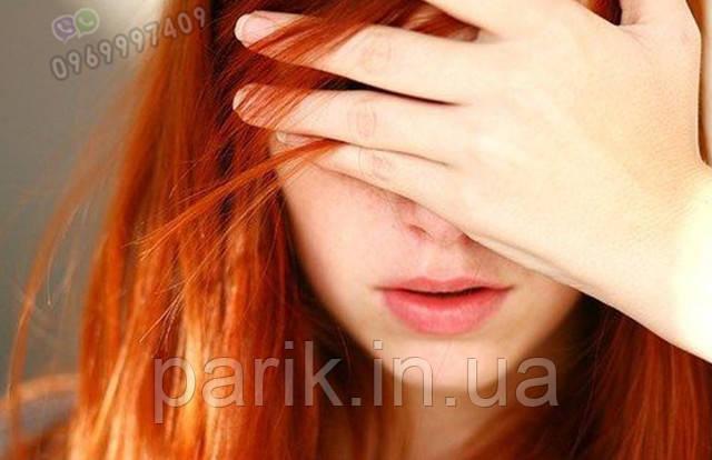 парик рыжий длинный 4