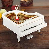 Рояль с танцующей балериной музыкальная игрушка (14х16х15 см), фото 1