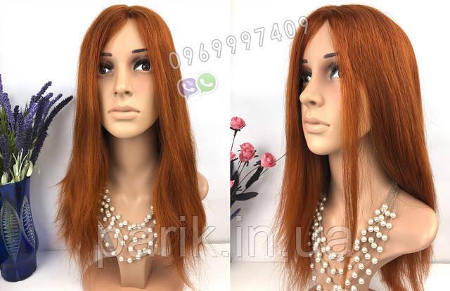 парик рыжий длинный 6