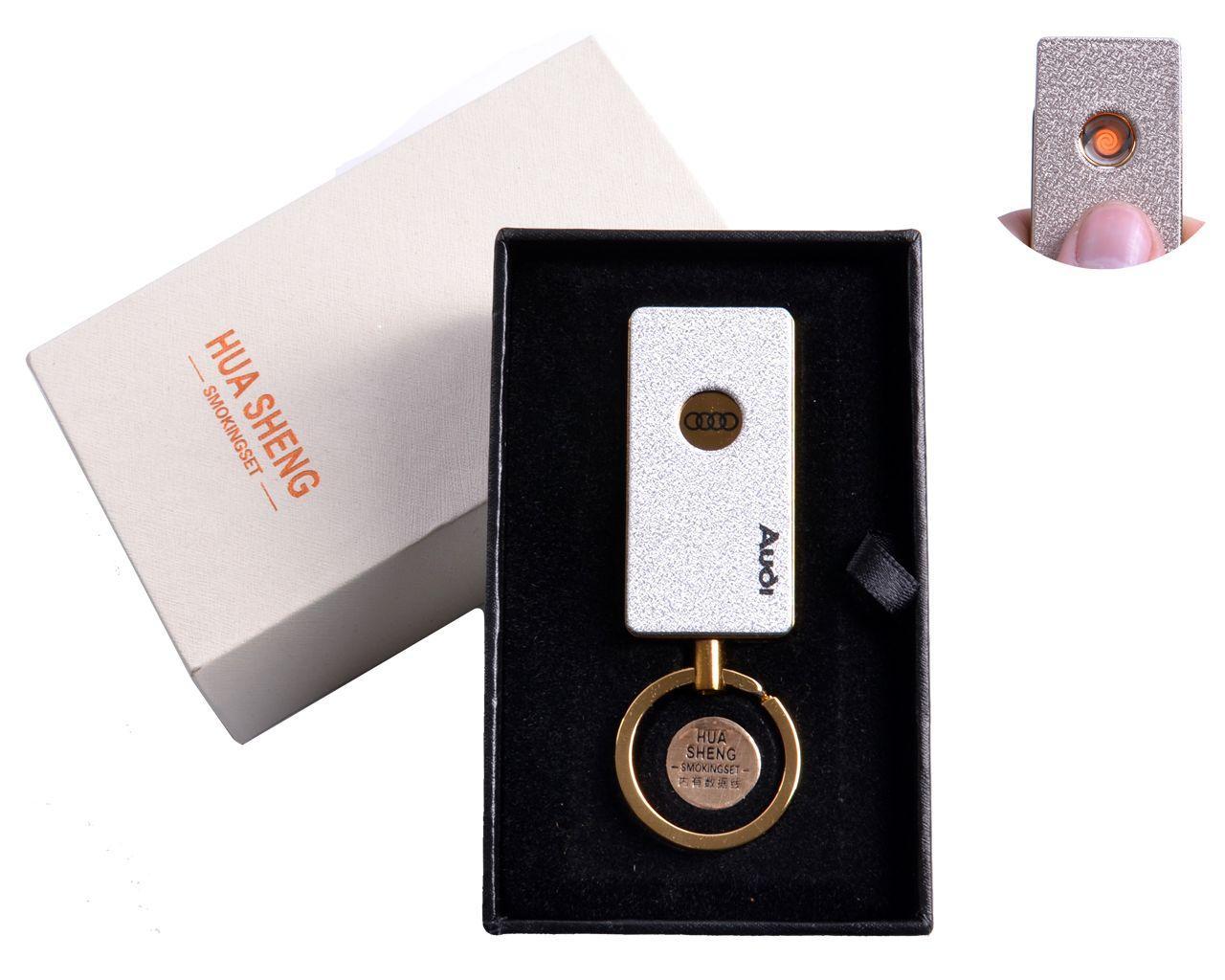 """USB зажигалка в подарочной упаковке """"Audi"""" (спираль накаливания) №4808-5"""
