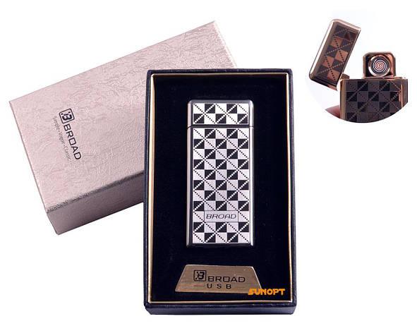 "USB зажигалка в подарочной упаковке ""Broad"" (Двухсторонняя спираль накаливания) №4850-1, фото 2"