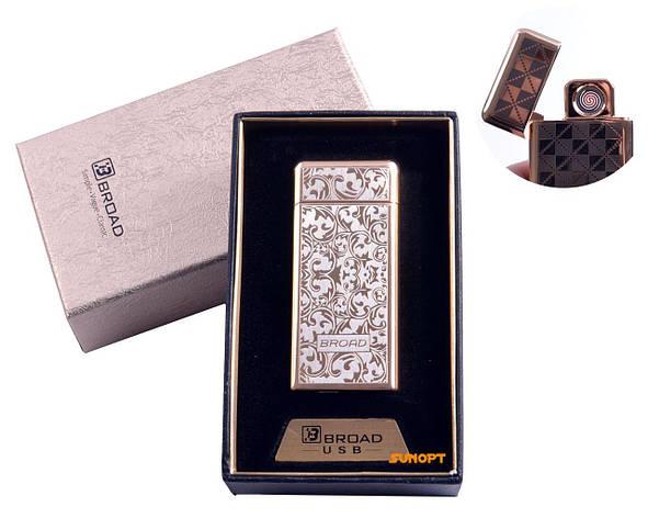 "USB зажигалка в подарочной упаковке ""Broad"" (Двухсторонняя спираль накаливания) №4850-3, фото 2"