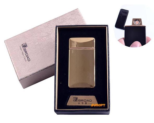 "USB зажигалка в подарочной упаковке ""Broad"" (Двухсторонняя спираль накаливания) №4851 Gold, фото 2"