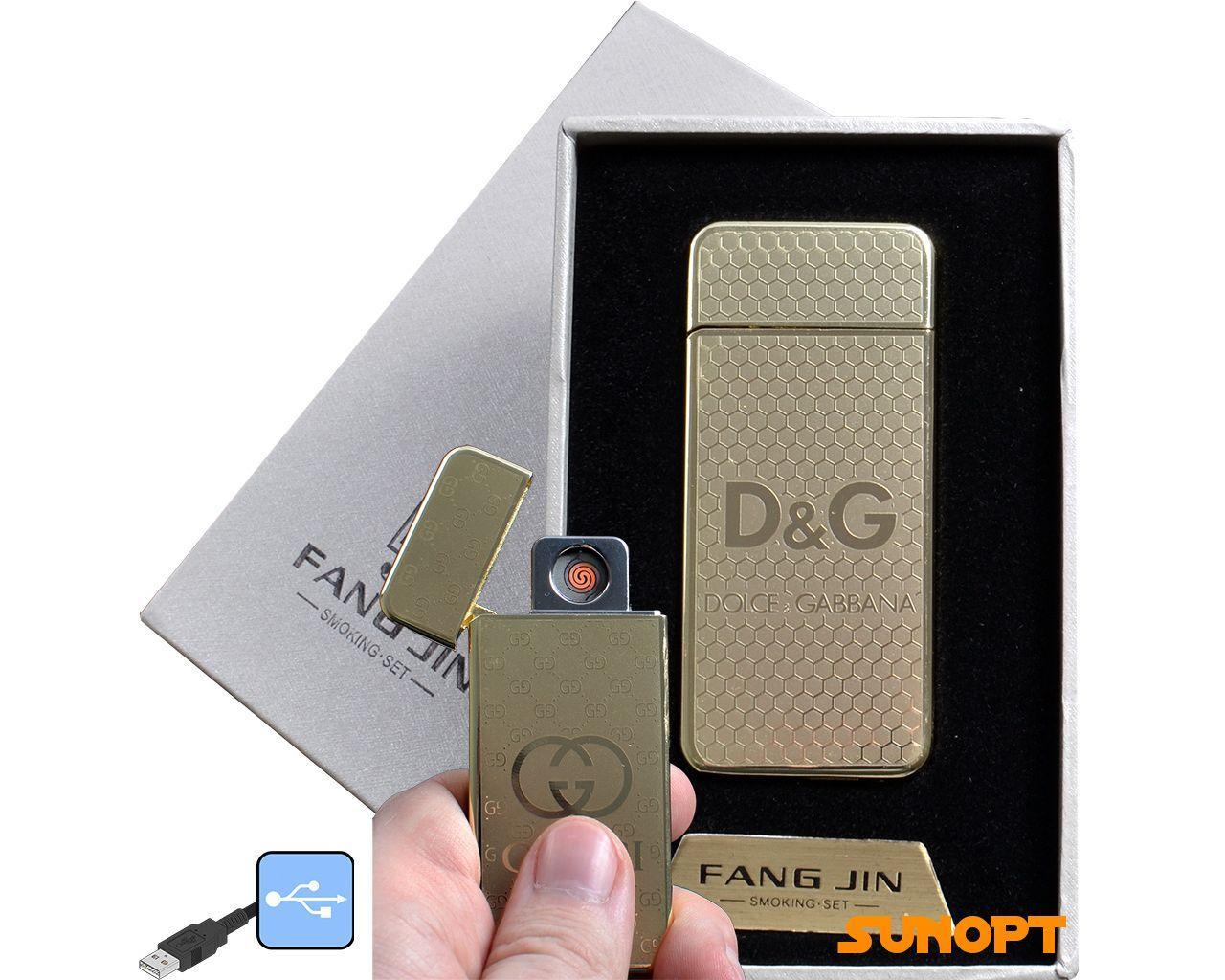"""USB зажигалка в подарочной упаковке """"Dolce Gabbana"""" (спираль накаливания) №4796A-3"""