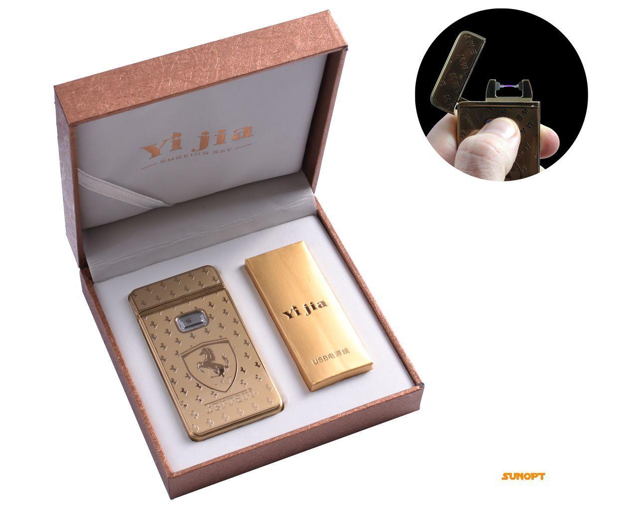 """USB зажигалка в подарочной упаковке """"Ferrari"""" (Электроимпульсная) №4772-3"""