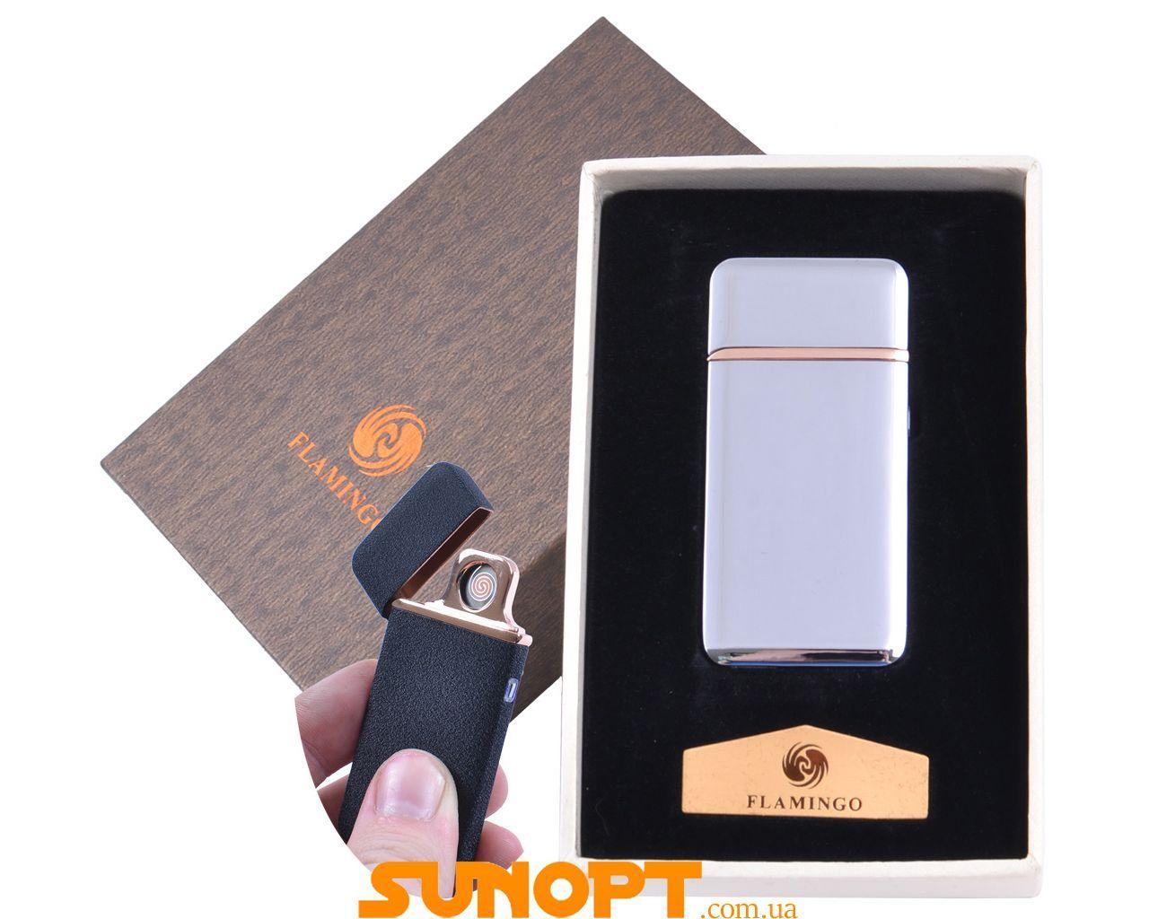 """USB зажигалка в подарочной упаковке """"Flamingo"""" (Двухсторонняя спираль накаливания) №XT-4880-1"""