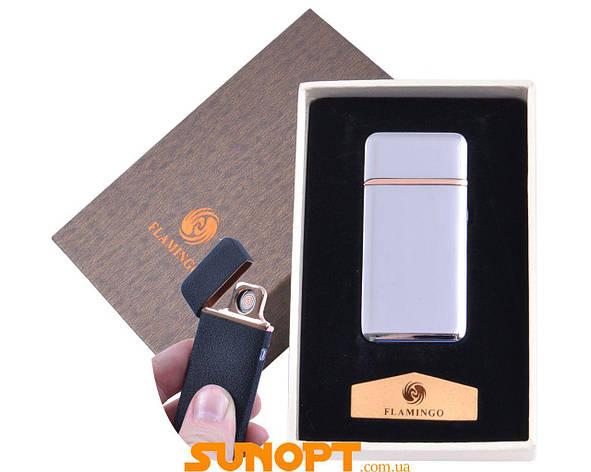 """USB зажигалка в подарочной упаковке """"Flamingo"""" (Двухсторонняя спираль накаливания) №XT-4880-1, фото 2"""