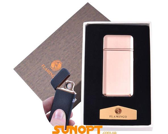 """USB зажигалка в подарочной упаковке """"Flamingo"""" (Двухсторонняя спираль накаливания) №XT-4880-2, фото 2"""