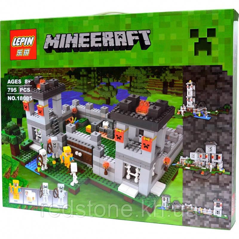 """Конструктор LEPIN 18005 (Lego Minecraft 21127)""""Крепость"""" 795 дет."""