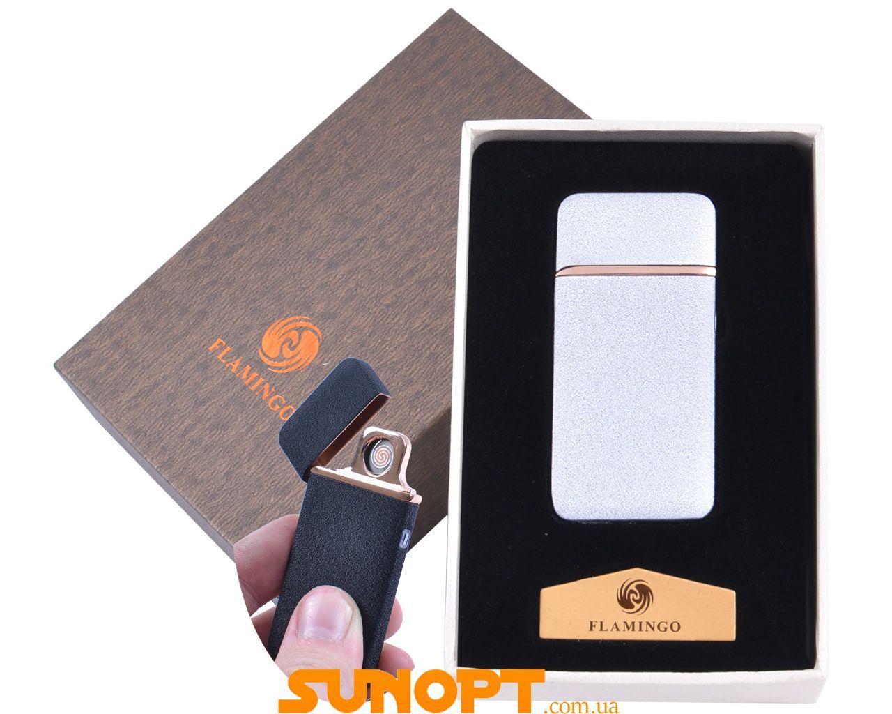 """USB зажигалка в подарочной упаковке """"Flamingo"""" (Двухсторонняя спираль накаливания) №XT-4880-3"""
