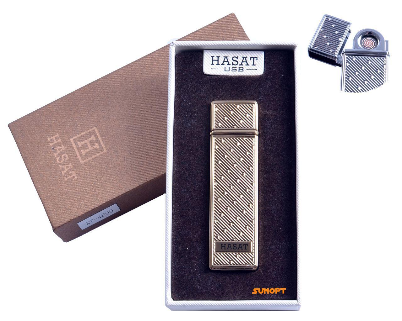 """USB зажигалка в подарочной упаковке """"Hasat"""" (Двухсторонняя спираль накаливания) №4800-6"""