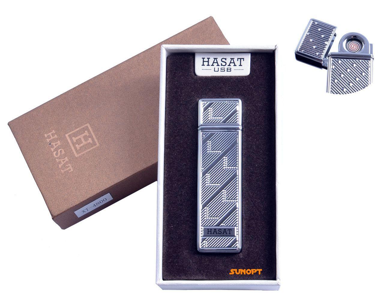 """USB зажигалка в подарочной упаковке """"Hasat"""" (Двухсторонняя спираль накаливания) №4800-7"""