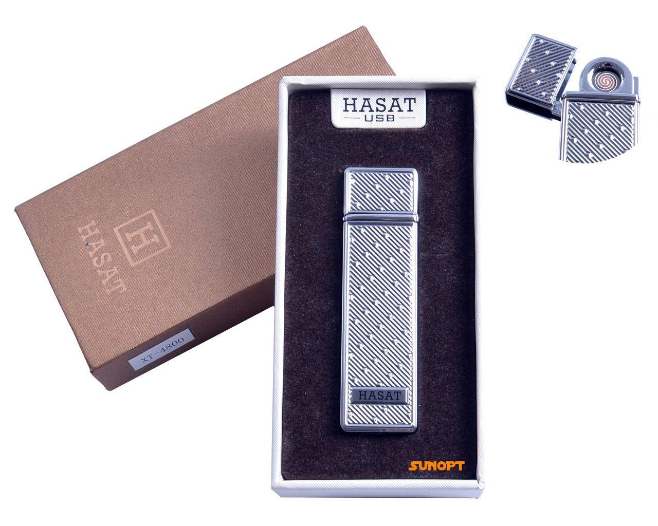 """USB зажигалка в подарочной упаковке """"Hasat"""" (Двухсторонняя спираль накаливания) №4800-8"""