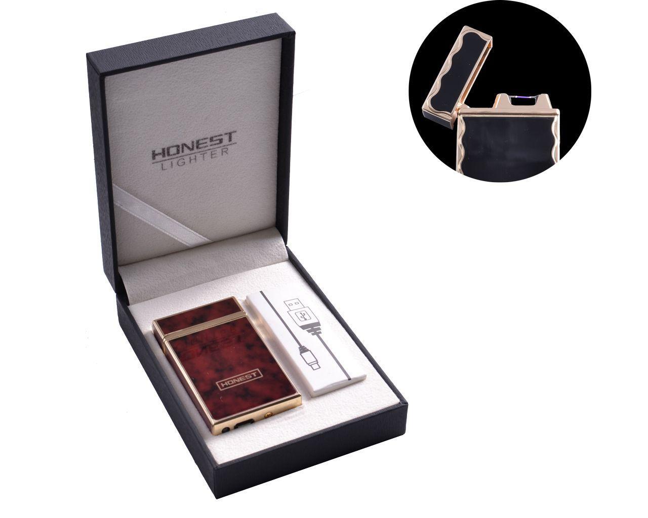"""USB зажигалка в подарочной упаковке """"HONEST"""" (Электроимпульсная) №4769-1"""