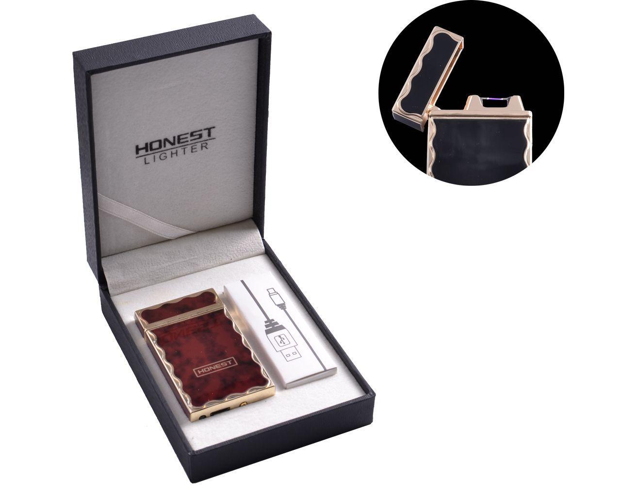 """USB зажигалка в подарочной упаковке """"HONEST"""" (Электроимпульсная) №4769-2"""