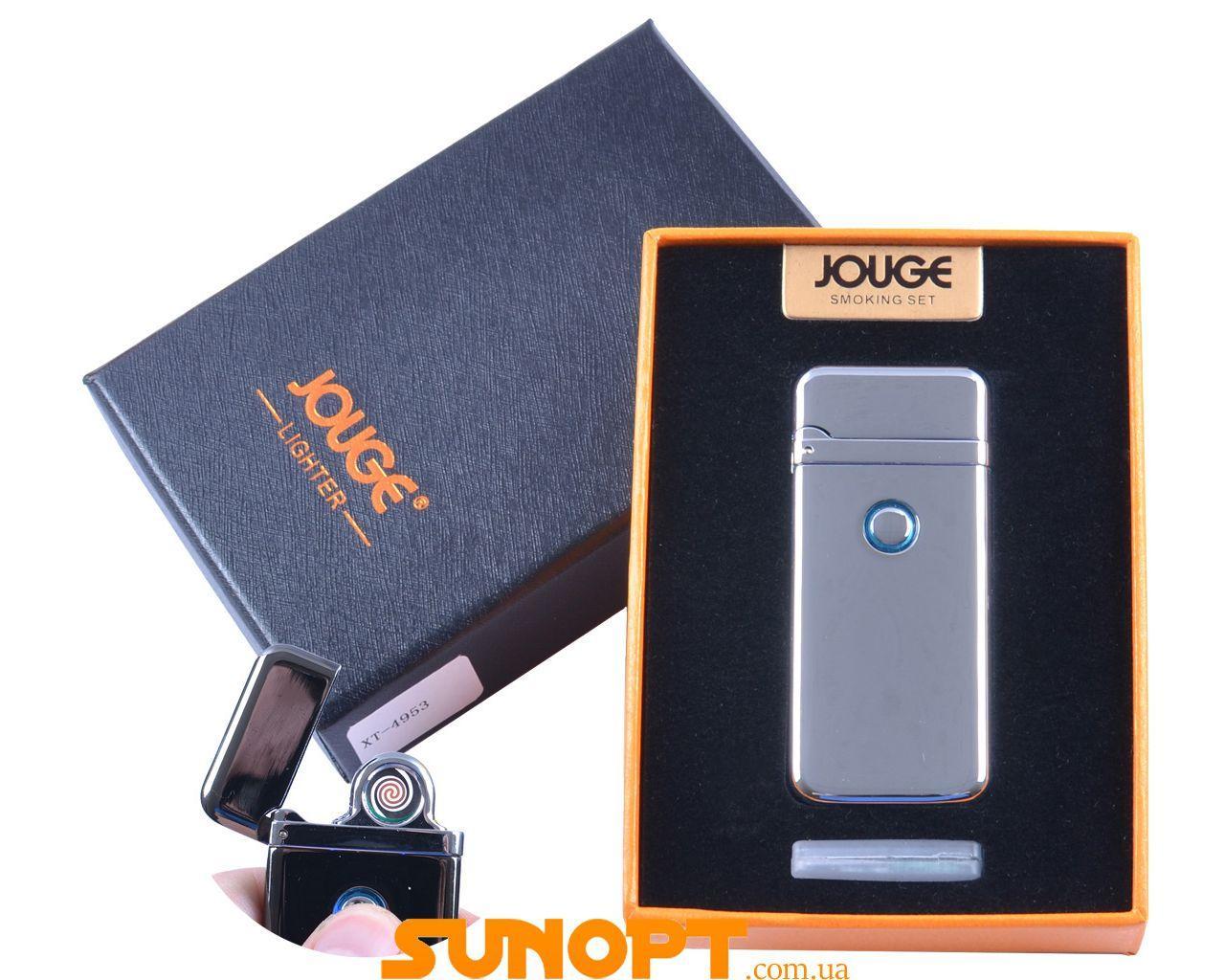 """USB зажигалка в подарочной упаковке """"Jouge"""" (Двухсторонняя спираль накаливания) №XT-4953-1"""