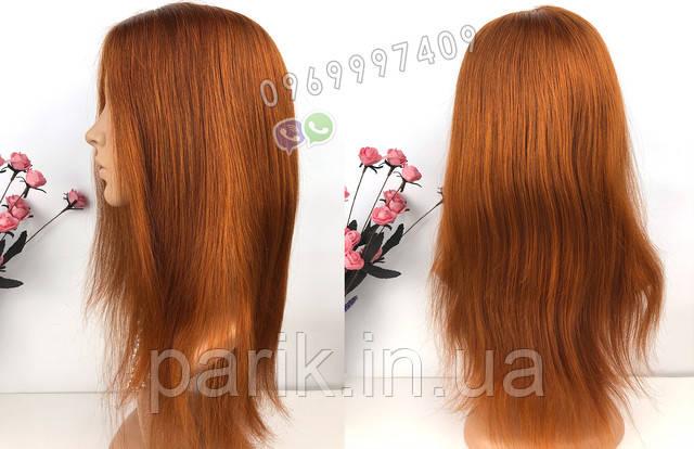 парик рыжий длинный 7