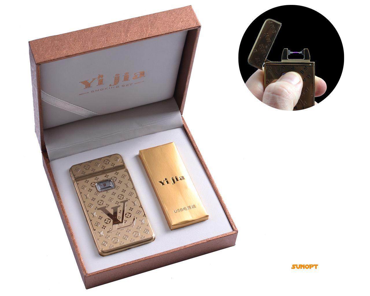 """USB зажигалка в подарочной упаковке """"Louis Vuitton"""" (Электроимпульсная) №4772-4"""